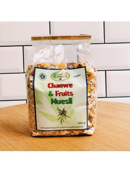 Muesli fruits et chanvre CBD