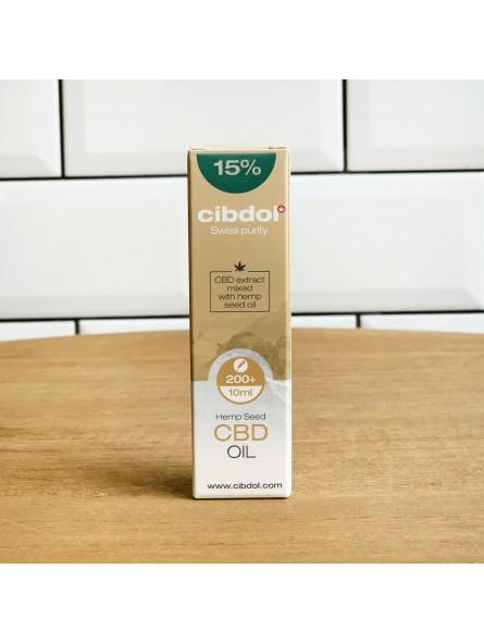 Huile de CBD 15% - Cibdol - 10ML - base huile de chanvre