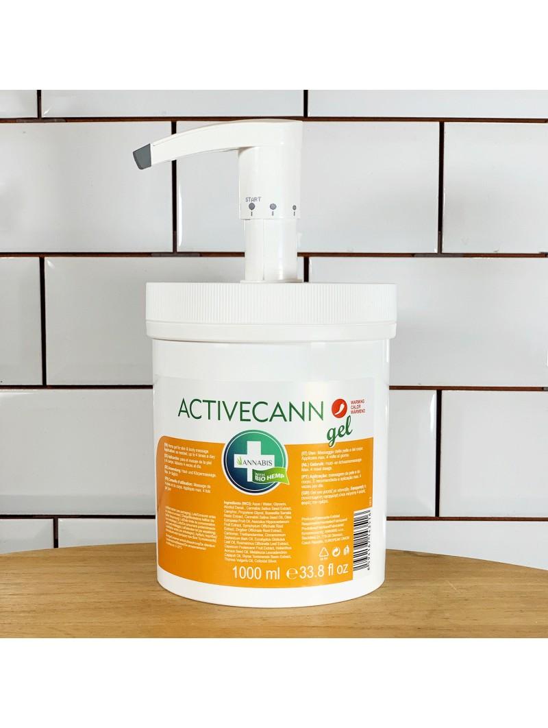 Gel de massage chaud Activecann - 1000 ml - Annabis