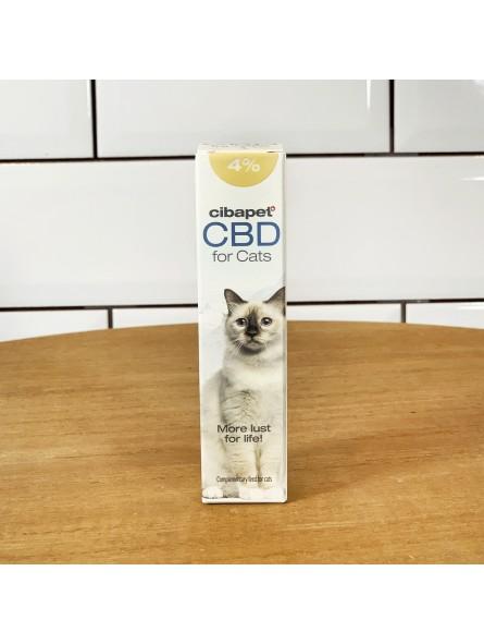 Huile de CBD 4% pour chats